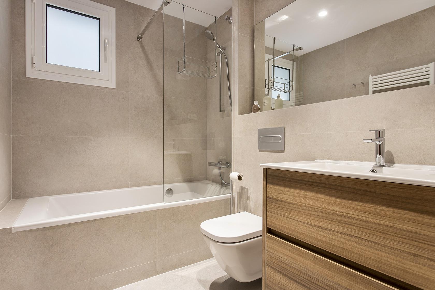 Vista general del bany