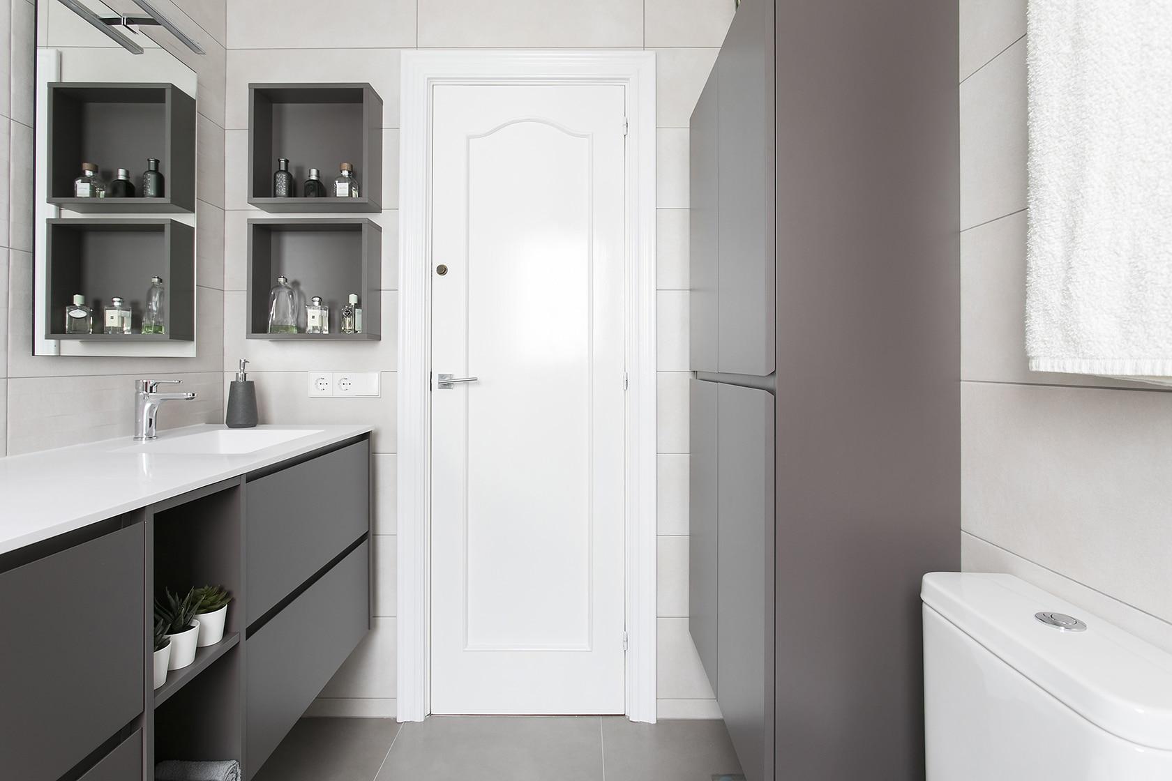 puerta del baño