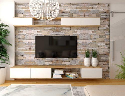Idees per a decorar la paret del televisor en el saló