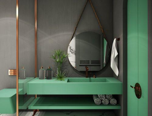 Banys en verd, aposta pel color de moda!